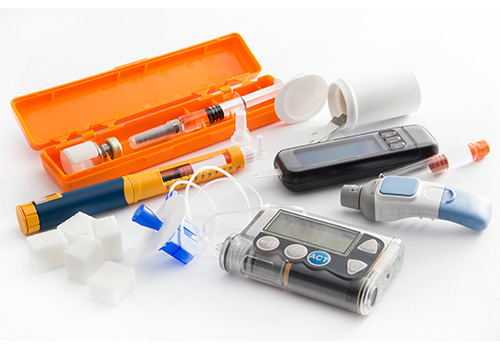 Miscellaneous Medical Supplies including a syringe.